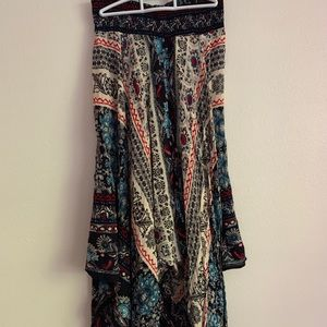 Multicolored maxi skirt